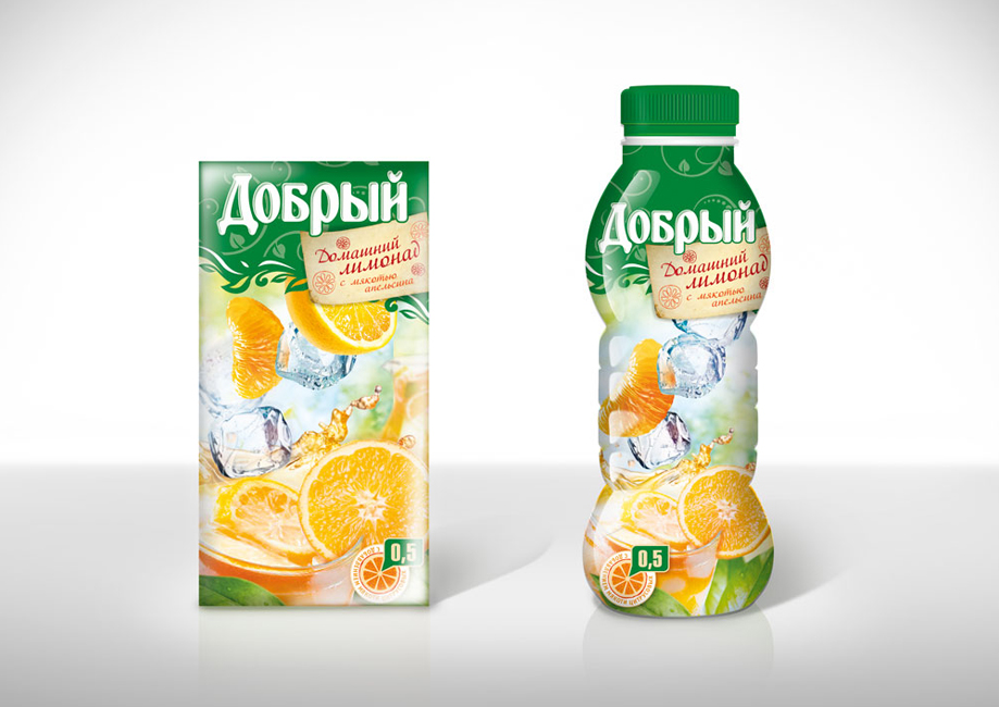 Dobriy juice. The concept for summer edition lemonade