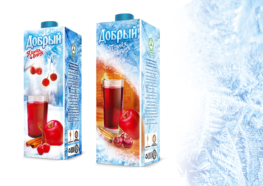 Dobriy juice. The concept for winter edition pack
