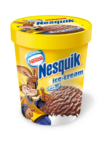 Nesquik ice cream. 2008